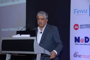 Nandan Nilekani introducing the Account Aggregator